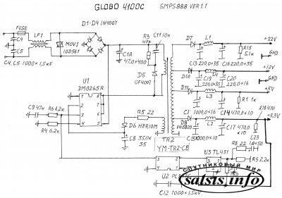 Схемы ресиверов Оrton 4100c ( Globo 4100c )